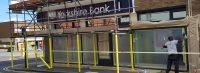 Shop Front Spraying Yorkshire Bank