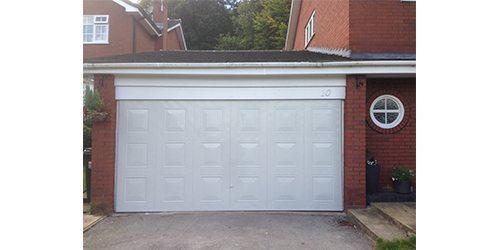 Lovely Metal Garage Door Spraying Cheshire